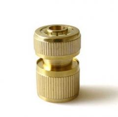 供应卡炫 1/2全铜快速接头 4分铜止水接头,申华气动