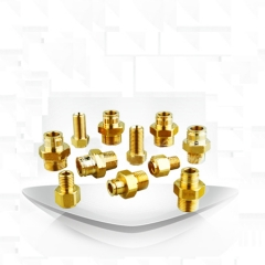 厂家推荐,黄铜精密液压气动元件,精密液压气动元件金属接头-东莞市长安东辰气动液压元件经营部